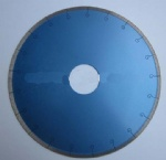 Continuous rim diamond saw ceramic blade for cutting ceramic porcelain