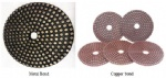 Flexible Metal bond and Copper bond Polishing Pad