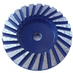 Heavy Duty 4 inch Ripple Segment Diamond Turbo Cup Grinding Wheel
