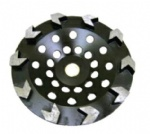 Arrow diamond grinding cup wheel for concrete