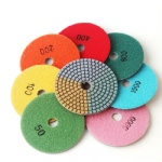 3 colors with 3.0mm thickness 4 inch diamond 100mm wet polishing pads for granite,marble and engineered stone