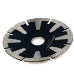 D115mm T-Segmented Concave Blade Diamond Blade For Curved Cutting Turbo Rim 4.5